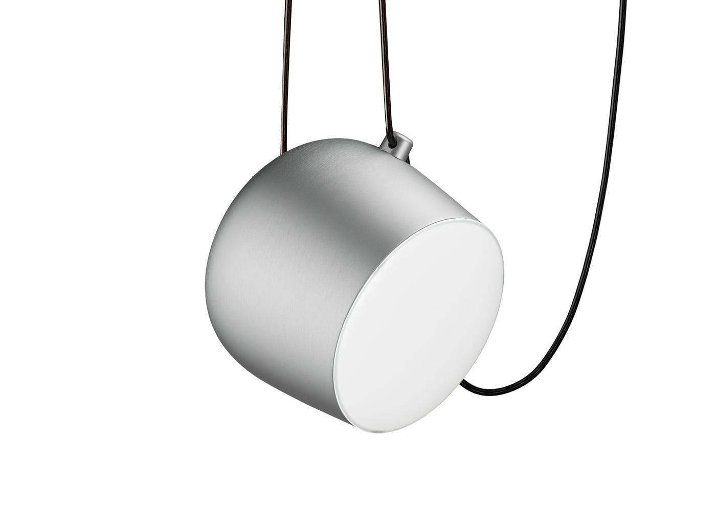 Aim Pendant Light Silver Anodised Large