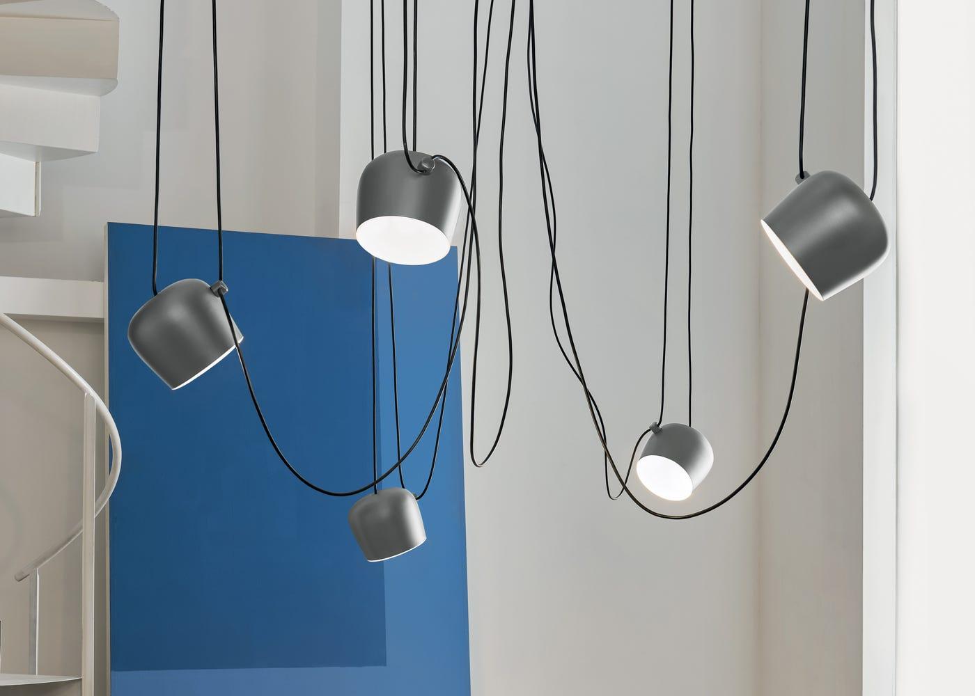 Aim Pendant Light Silver Anodised Cluster