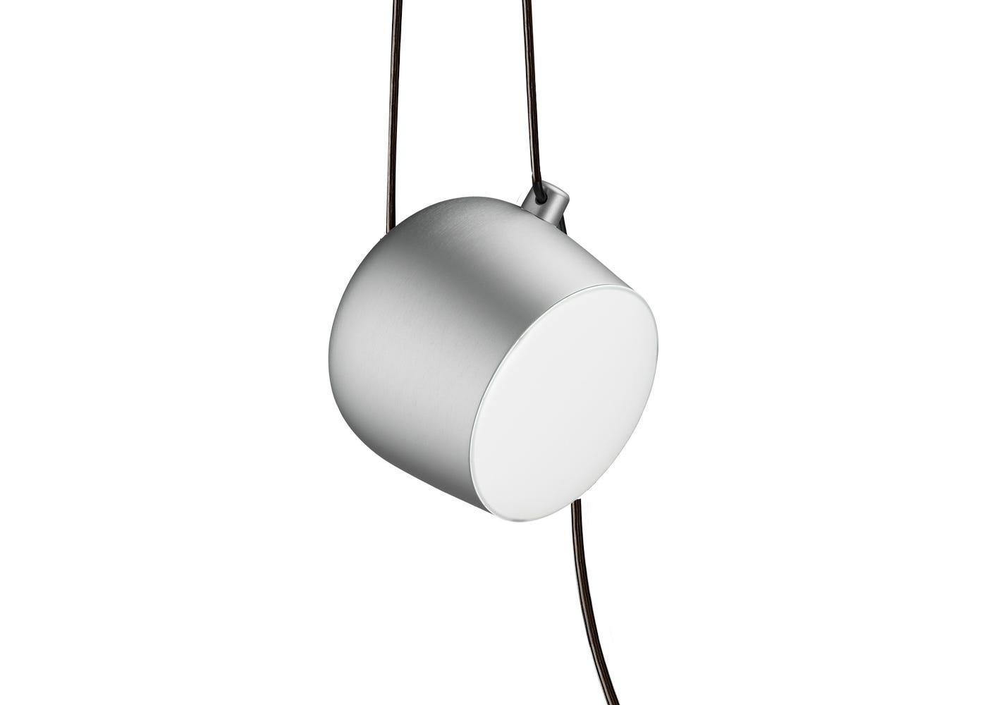 Aim Pendant Light Silver Anodised Small