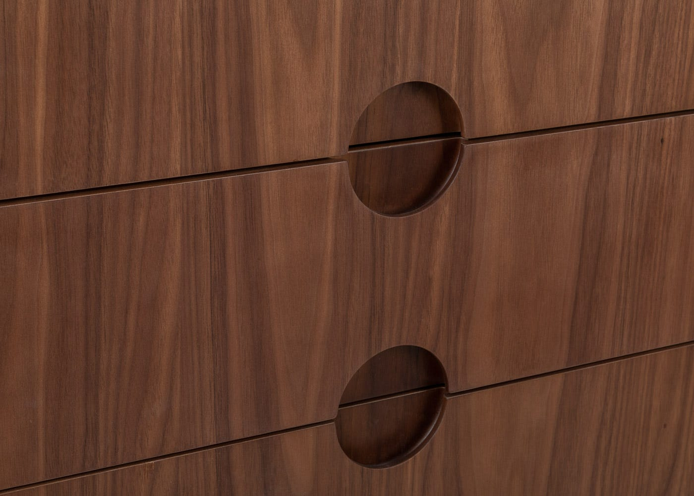 As shown: Routered handles