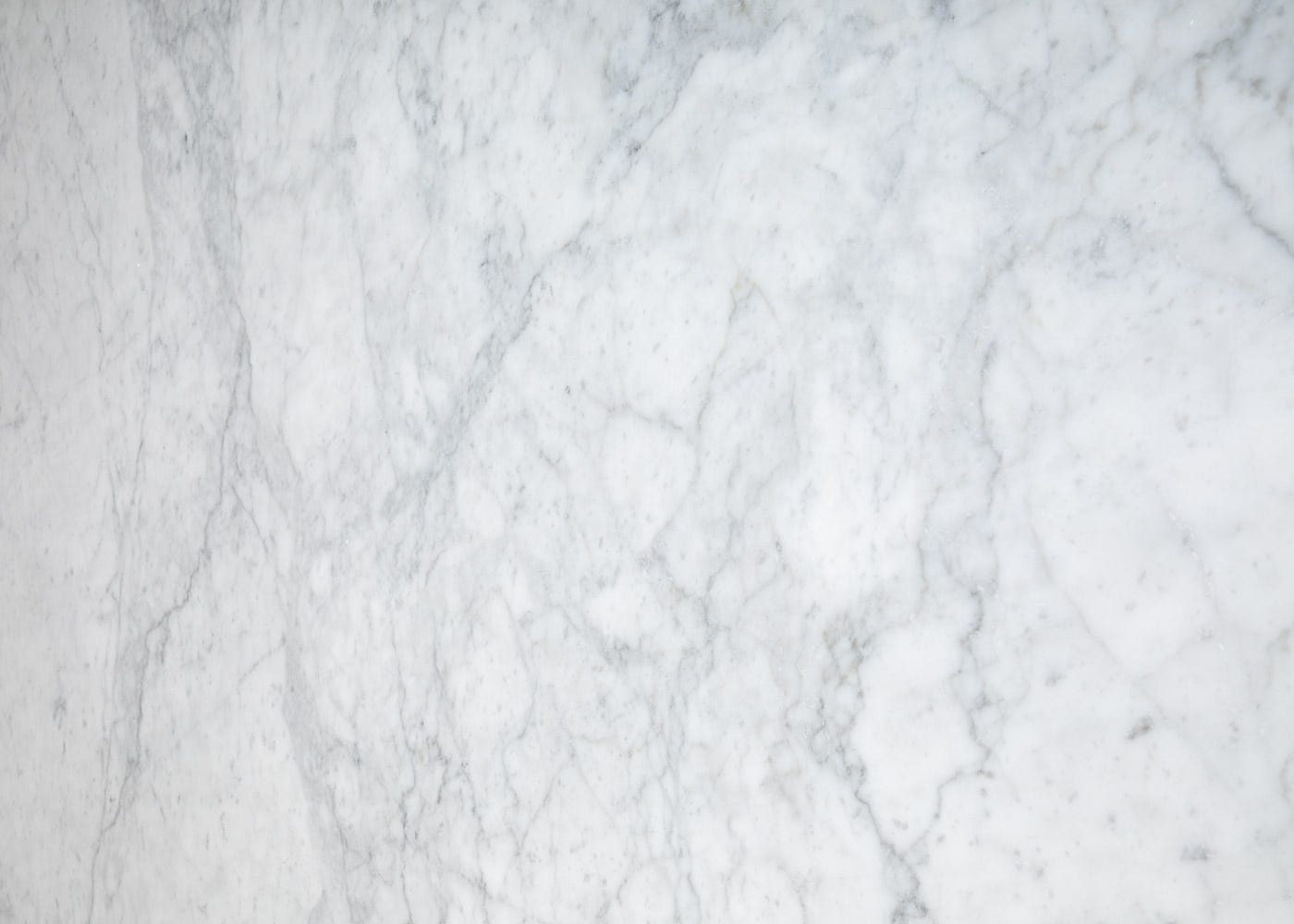 White marble top.