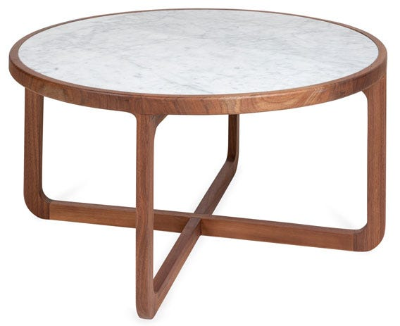 The neatly radiused edge give the coffee table an elegant contemporary look.