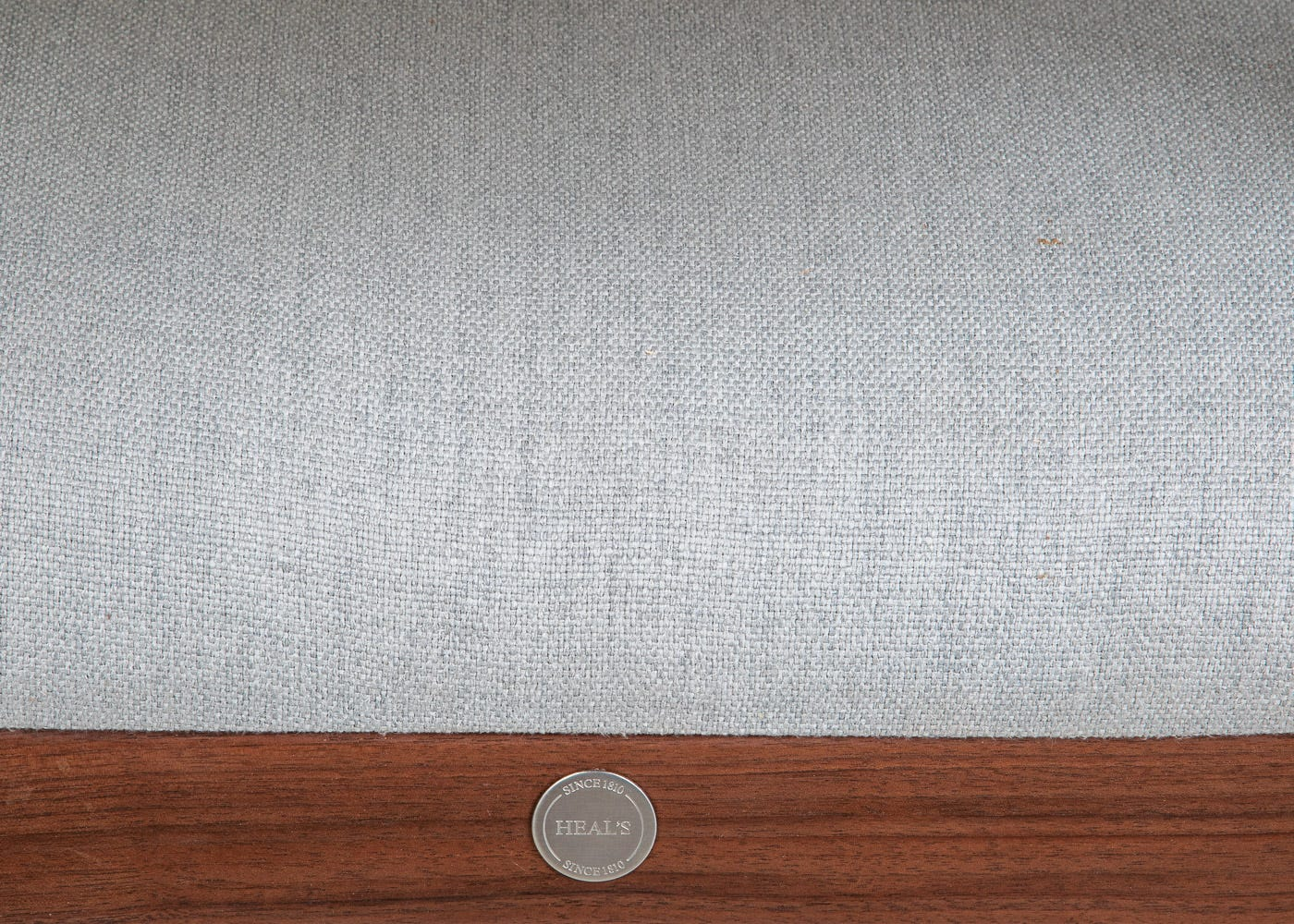 Charcoal grey upholstery.