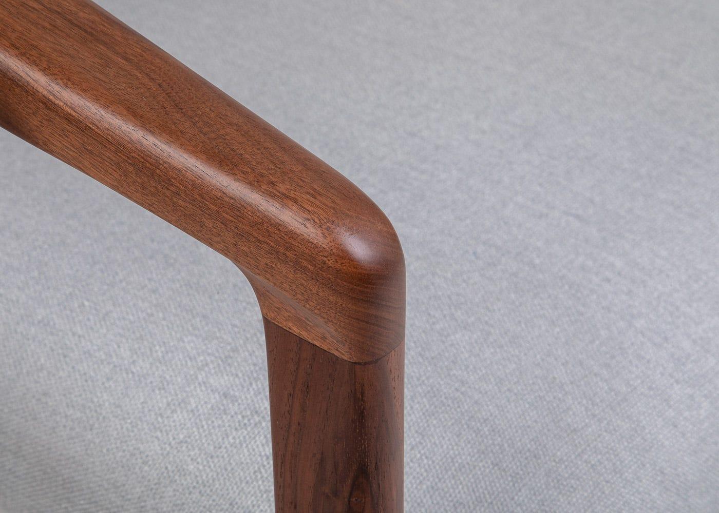 Solid walnut frame.