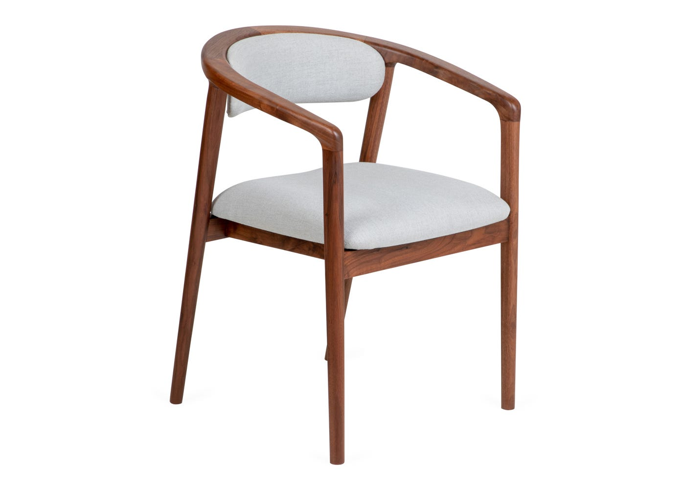 As shown Anais Dining Chair - Side profile.