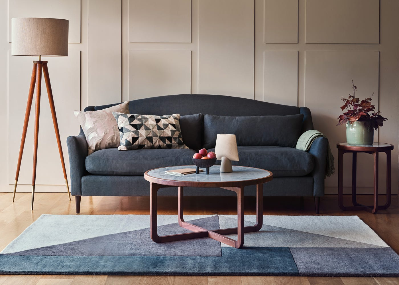 Paired with the Somerset Sofa and Anais furniture