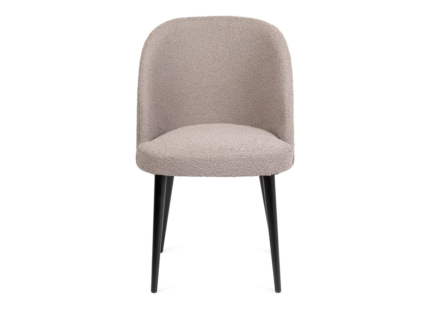 As shown: Austen dining chair grey boucle - Front profile