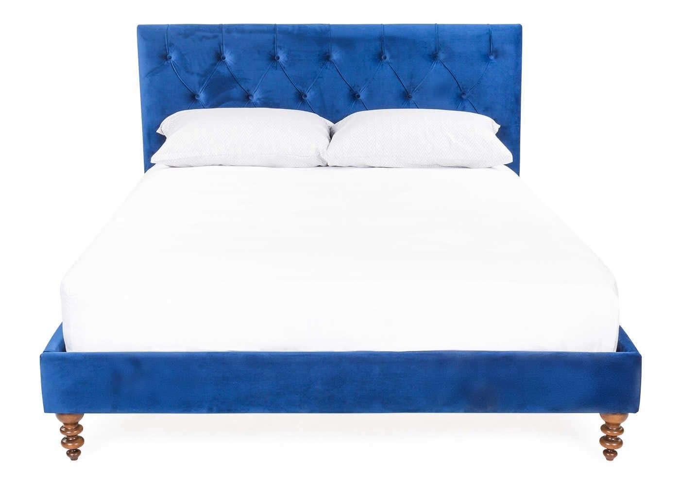 Balmoral bed in Smart Velvet Blue