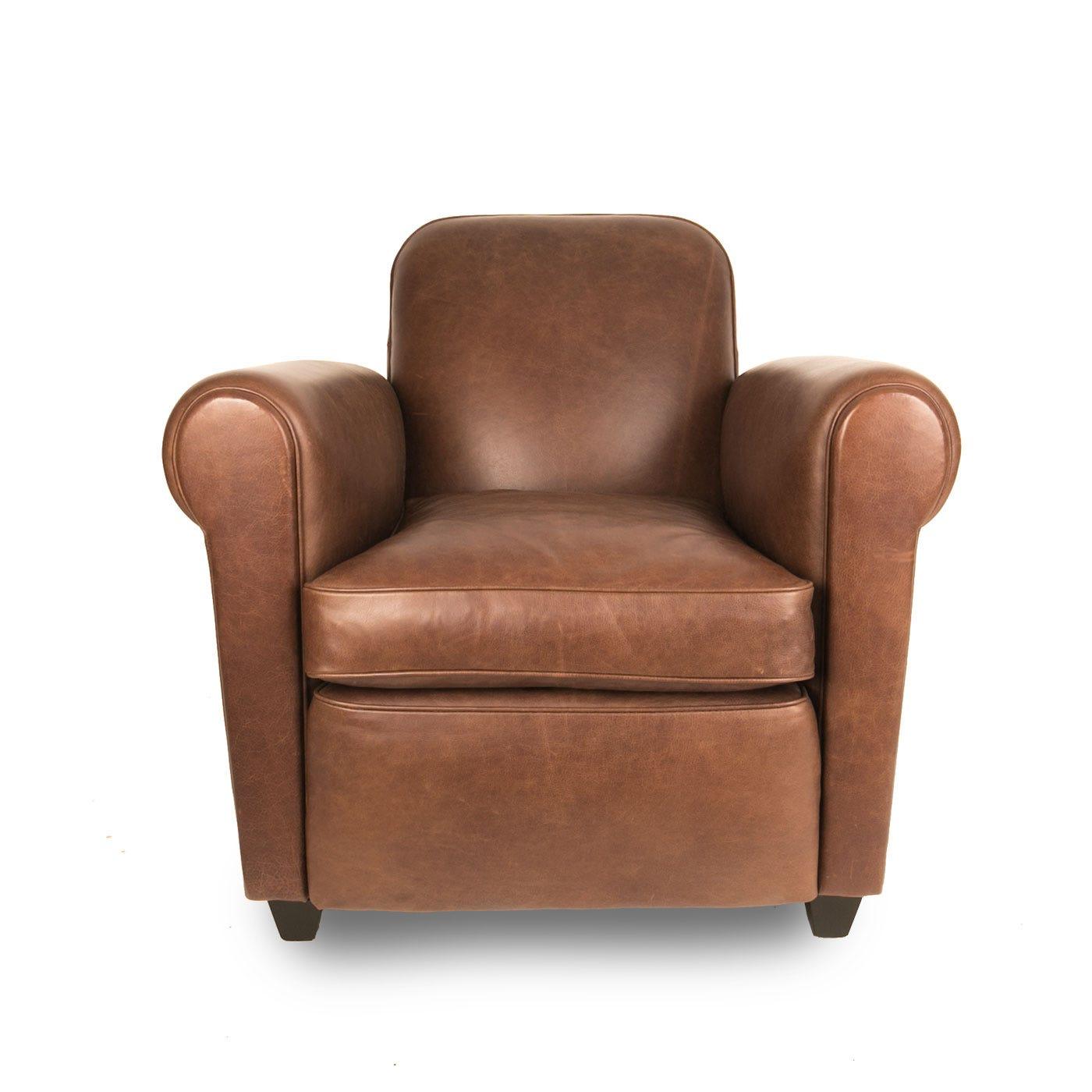 Barrington Club Chair Tan Leather