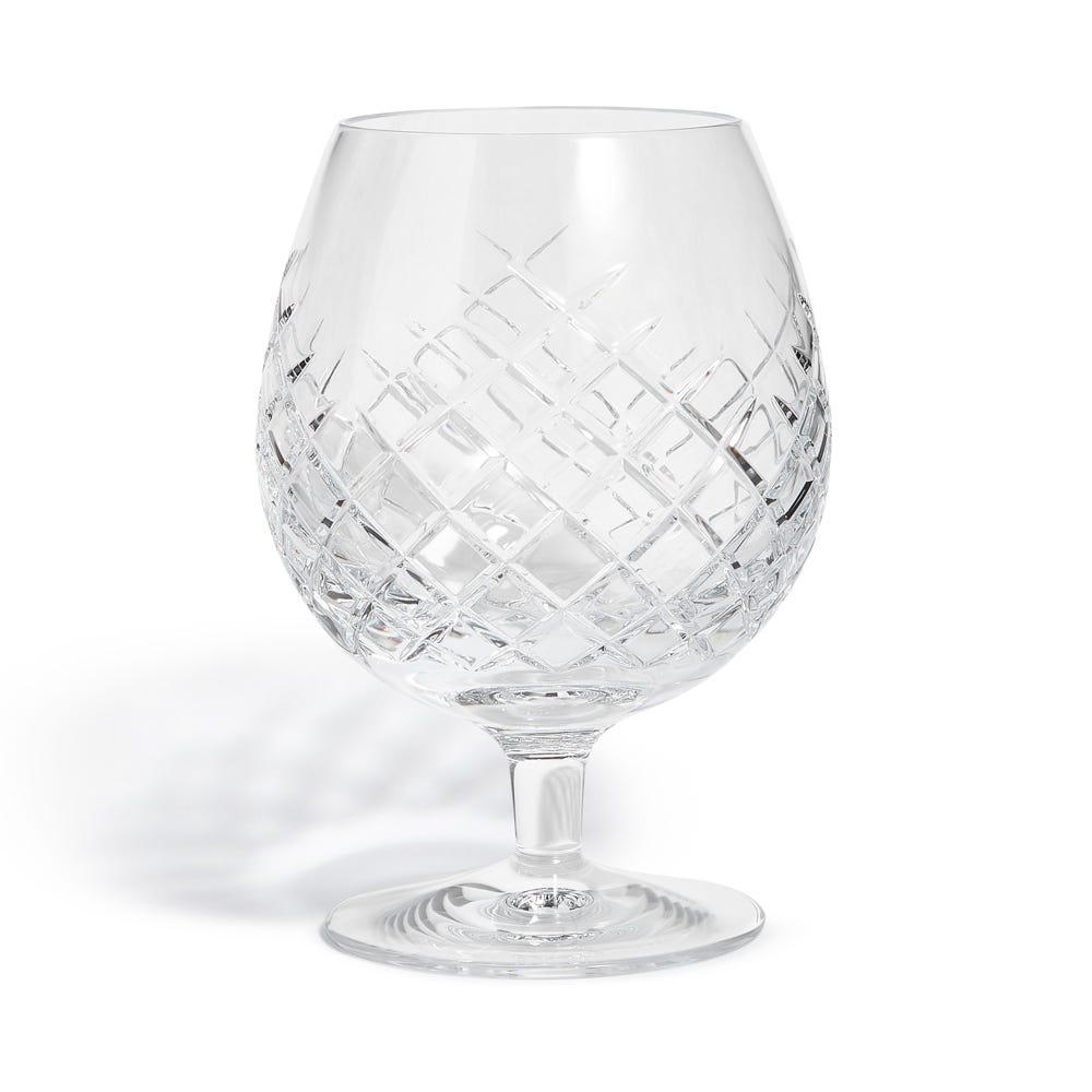 Barwell Cut Crystal Brandy Glass Set of 2