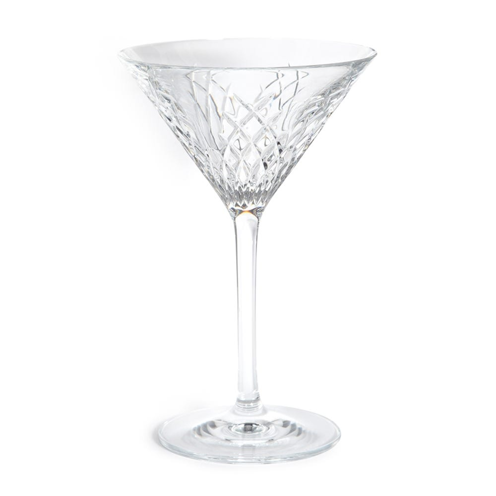 Barwell Cut Crystal Martini Glass Set of 2