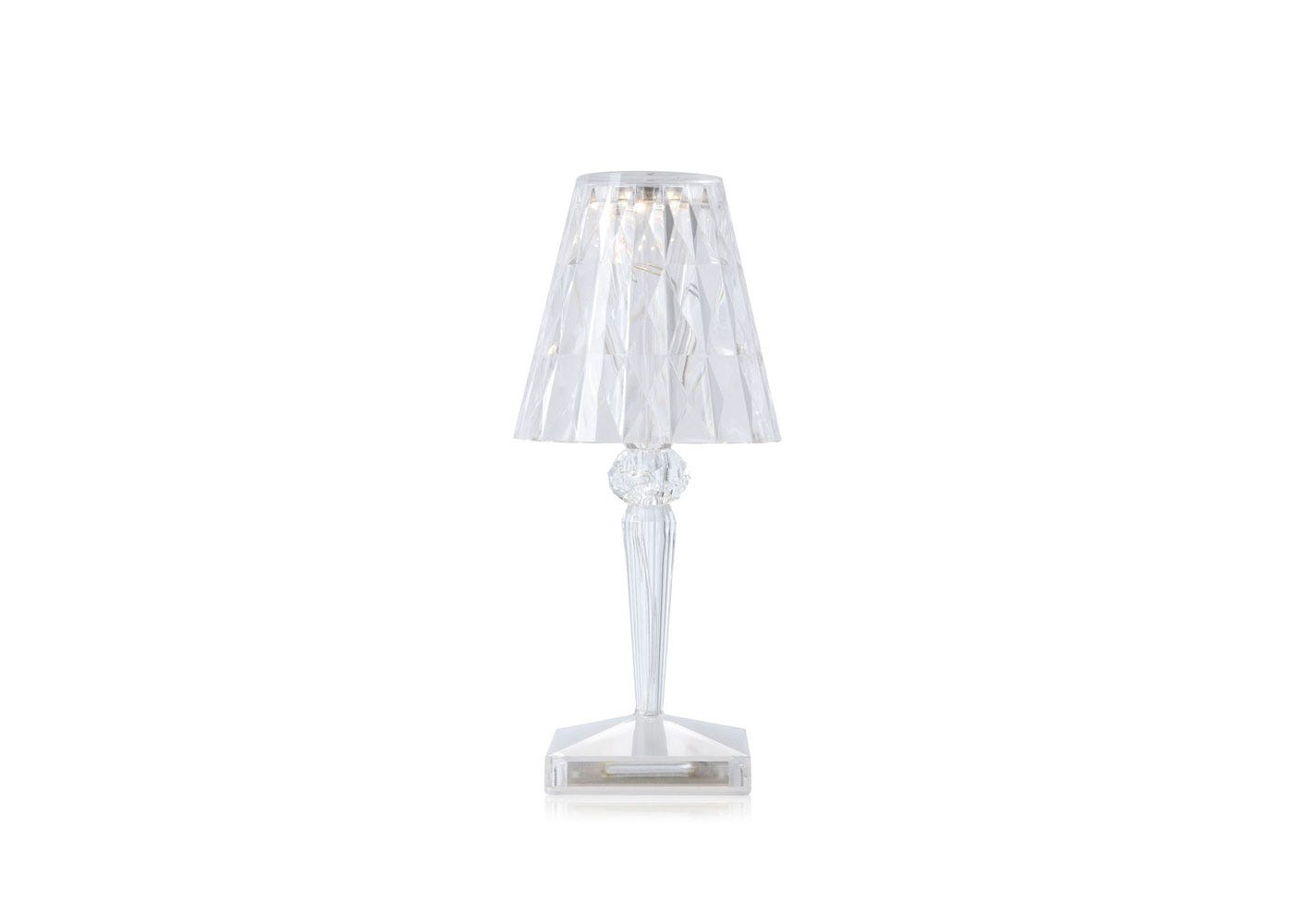 As shown: Battery lamp crystal