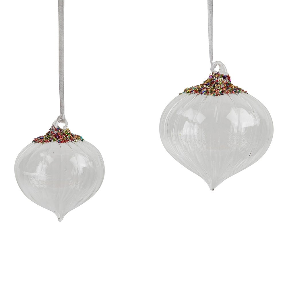 Multicoloured Beaded Bauble Decoration Collection