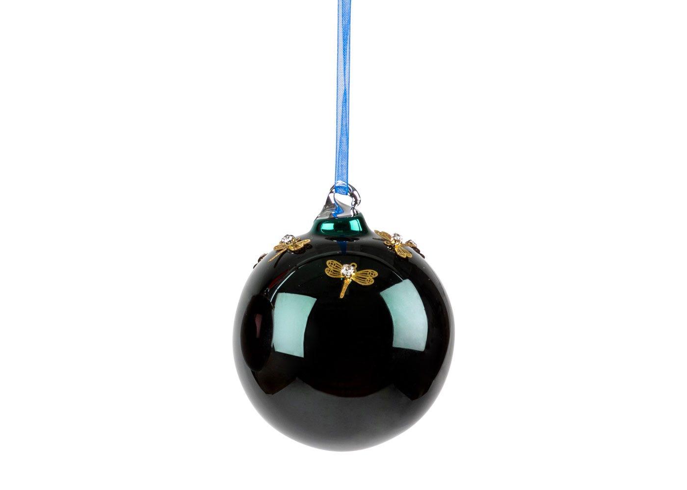 Green Dragonfly Ball Medium Decoration 6cm