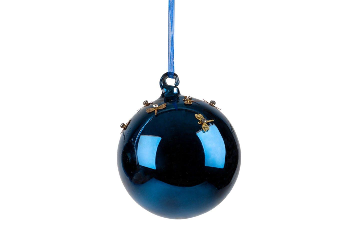 Midnight Dragonfly Ball Large Decoration 8cm