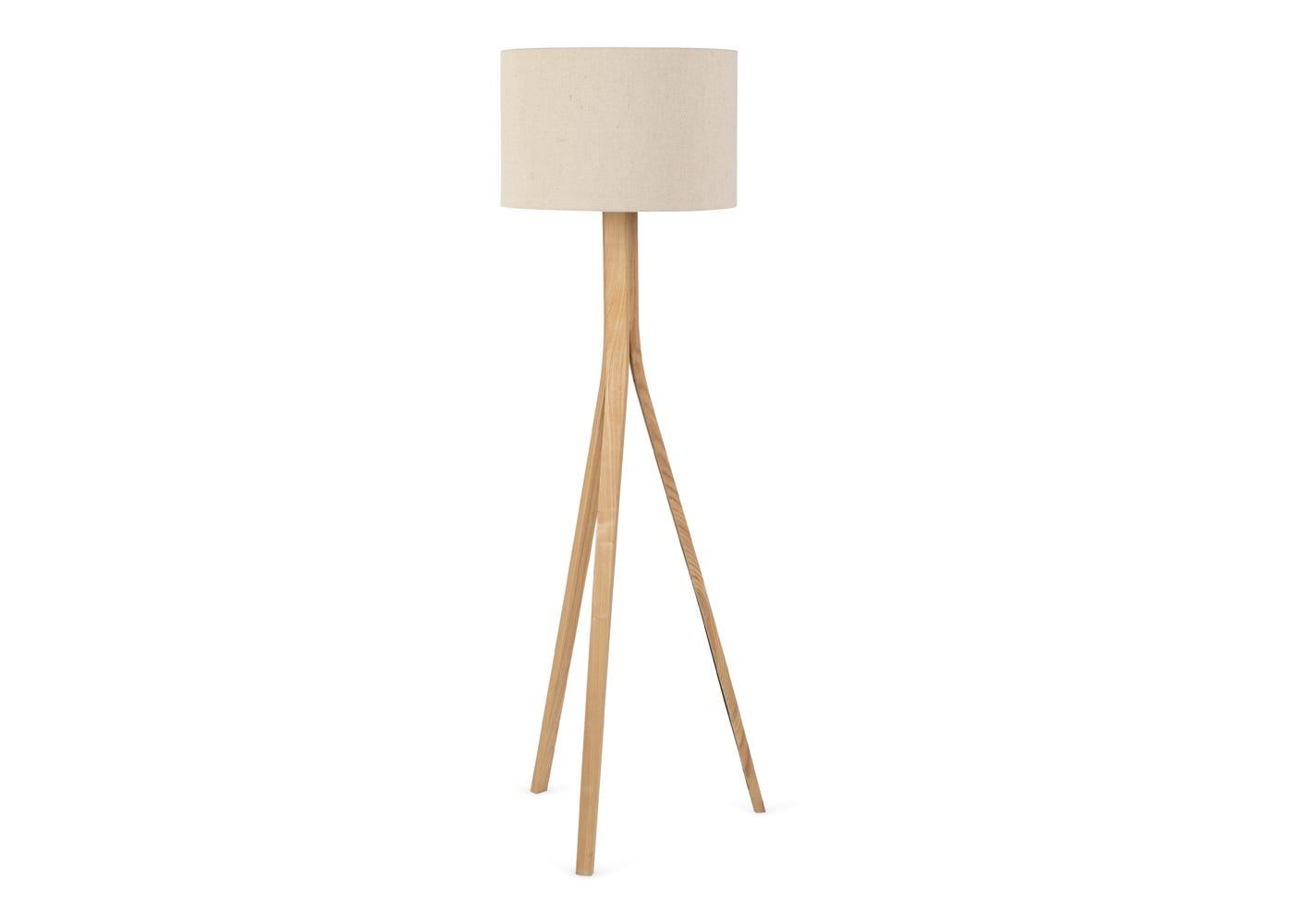 As shown: Baxter oak floor Lamp with Shade.