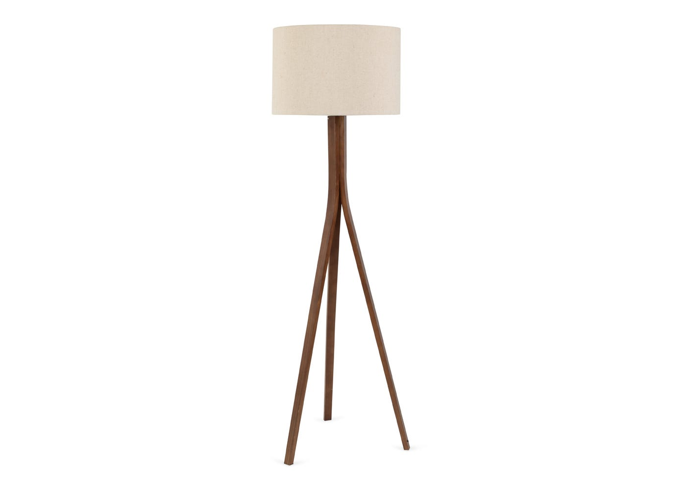As shown: Baxter walnut floor Lamp with Shade.