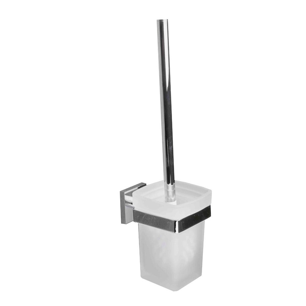 Corsair Wall Mounted Toilet Brush and Holder Chrome Plated