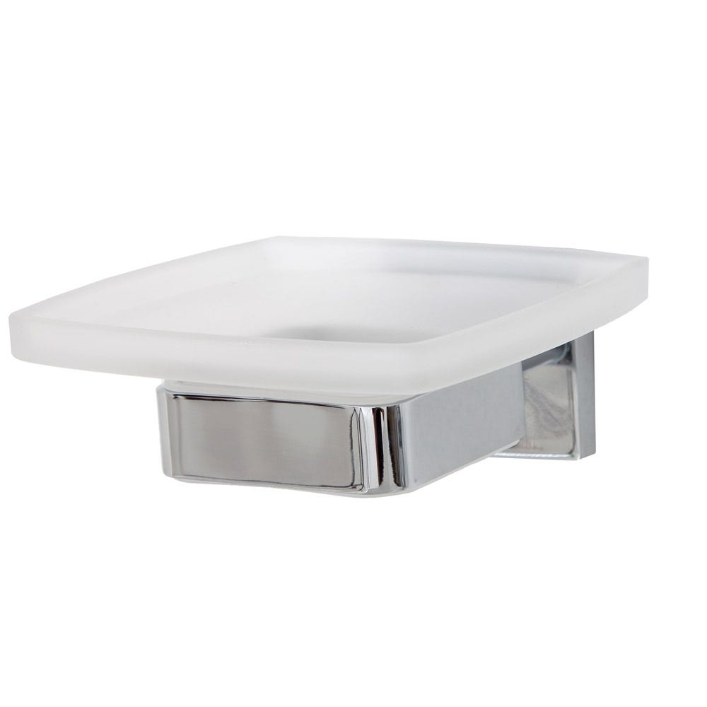 Corsair Wall Mounted Soap Dish and Holder Chrome Plated