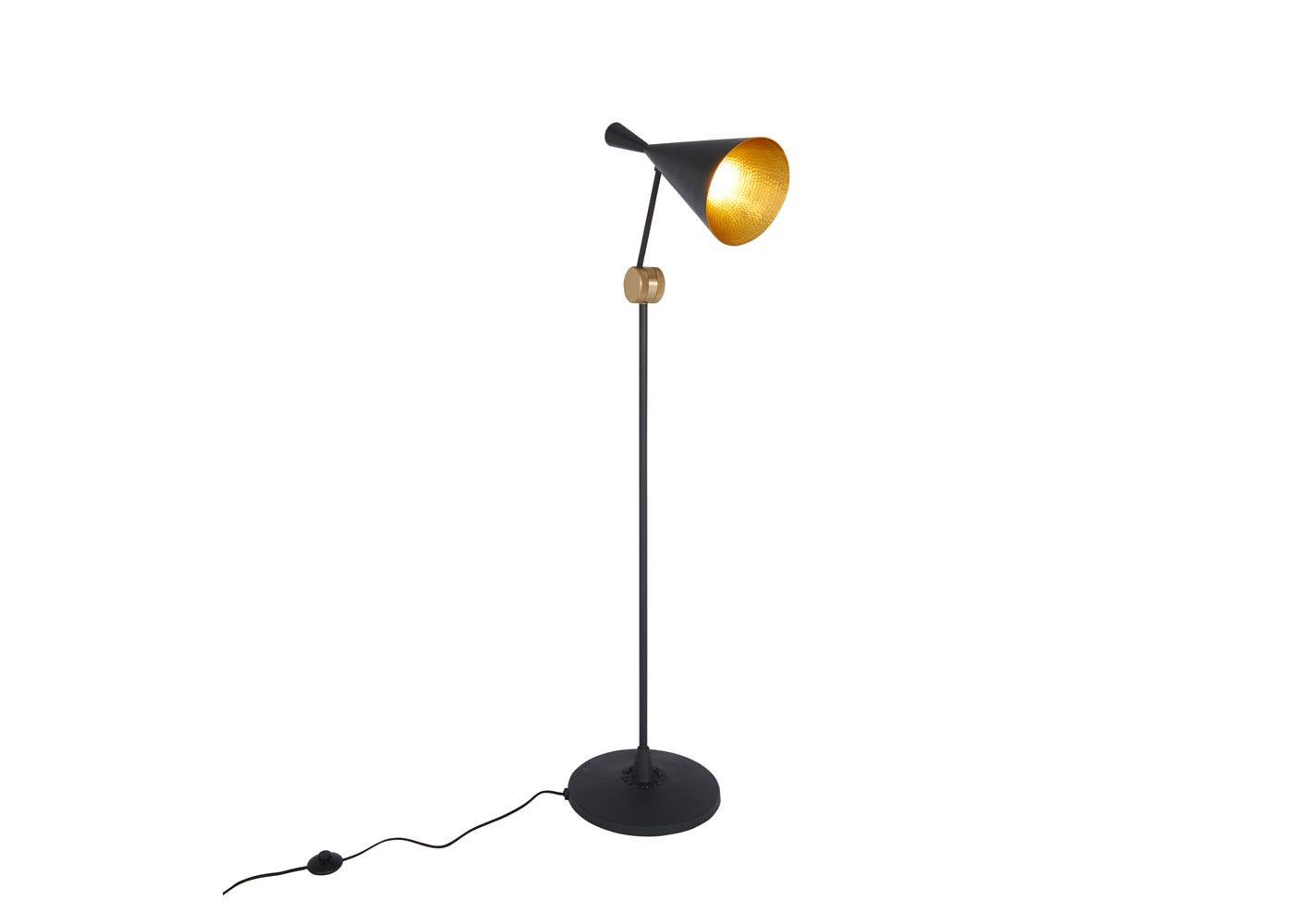 Beat floor lamp black - On