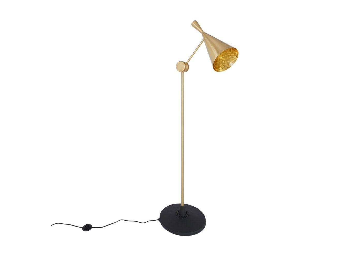 Beat floor lamp brass - Off