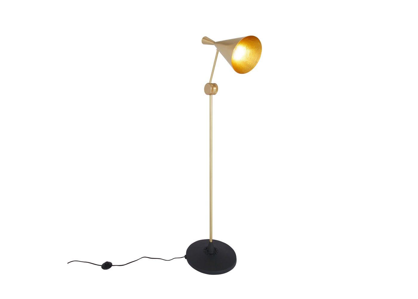 Beat floor lamp brass - On
