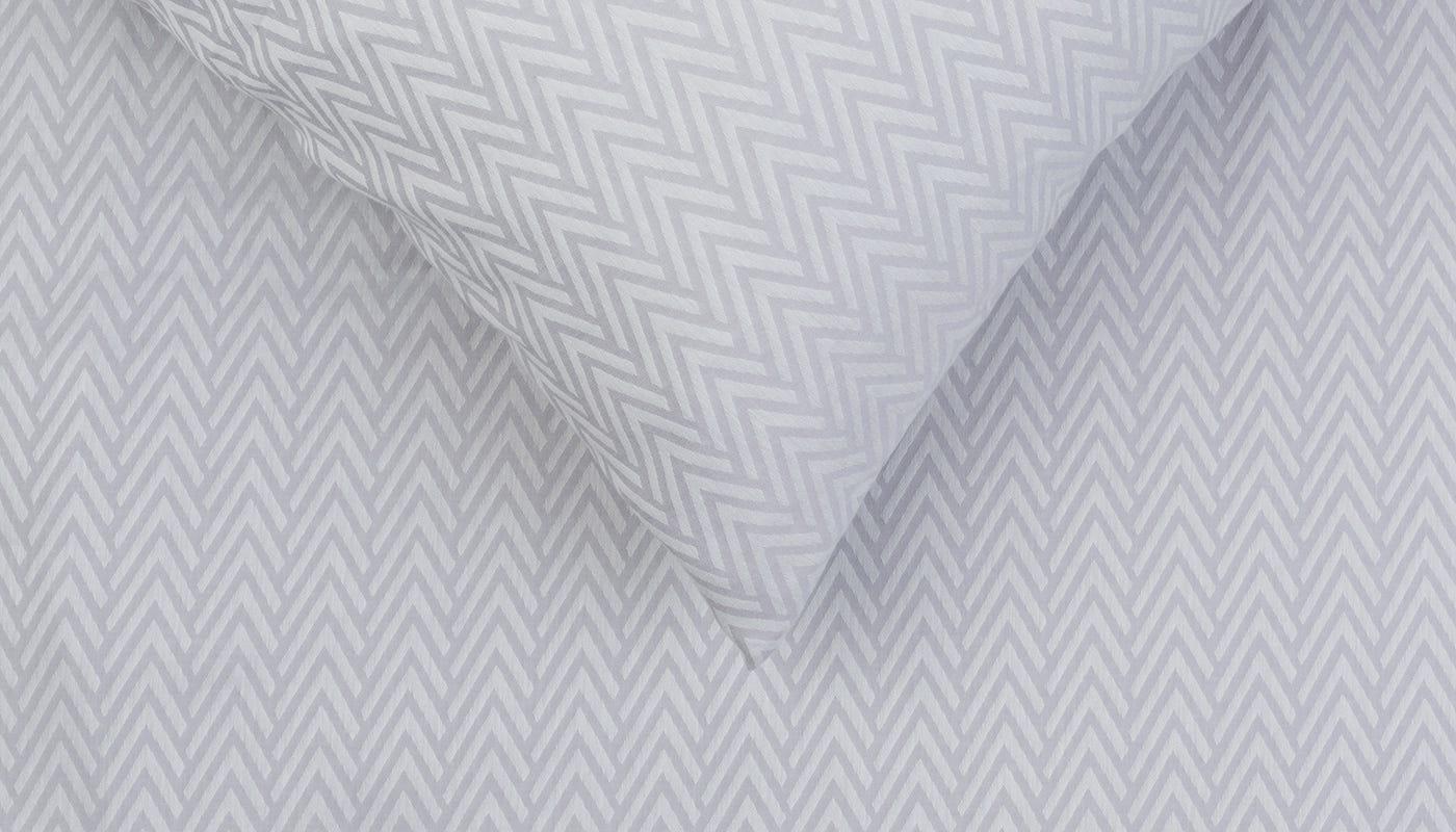Gray Herringbone Coverlet : Heal s herringbone bed linen grey