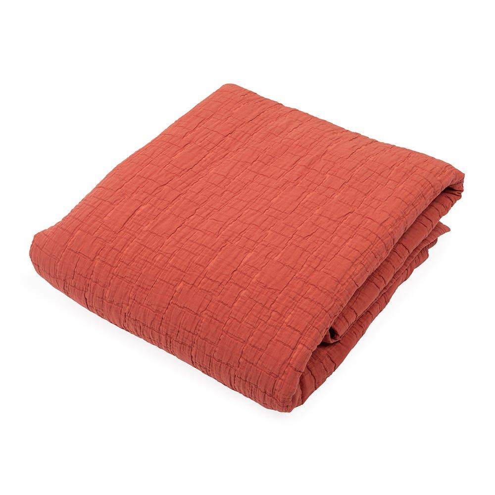 Cobble Bedspread Terracotta