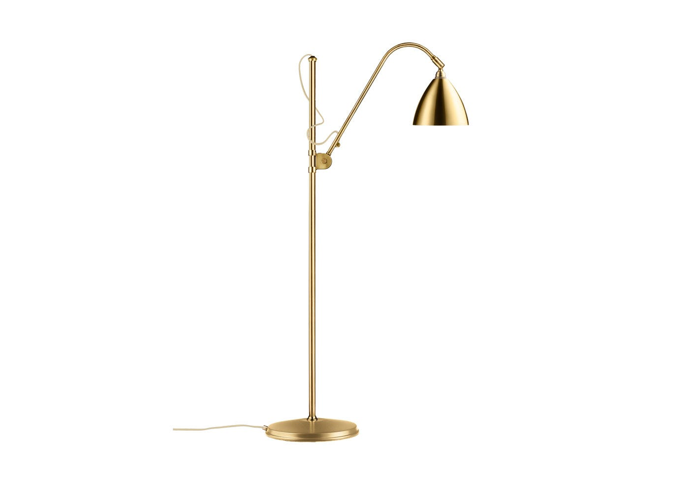 As Shown: BL3 Floor Lamp Brass Base With Brass Shade