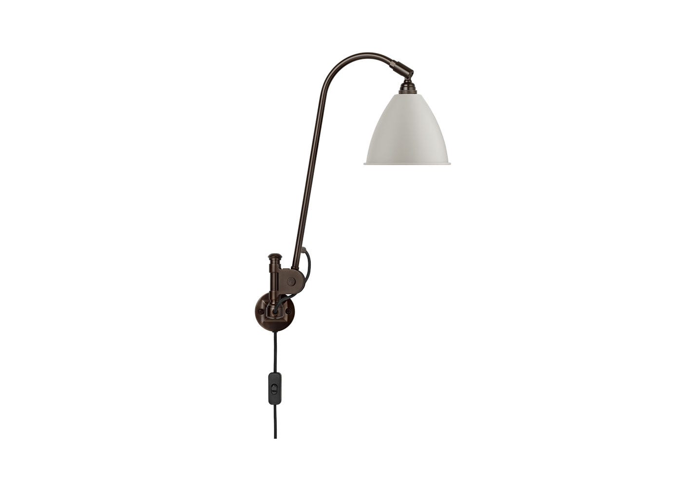 As Shown: BL6 Wall Light Black Base Base with White Shade
