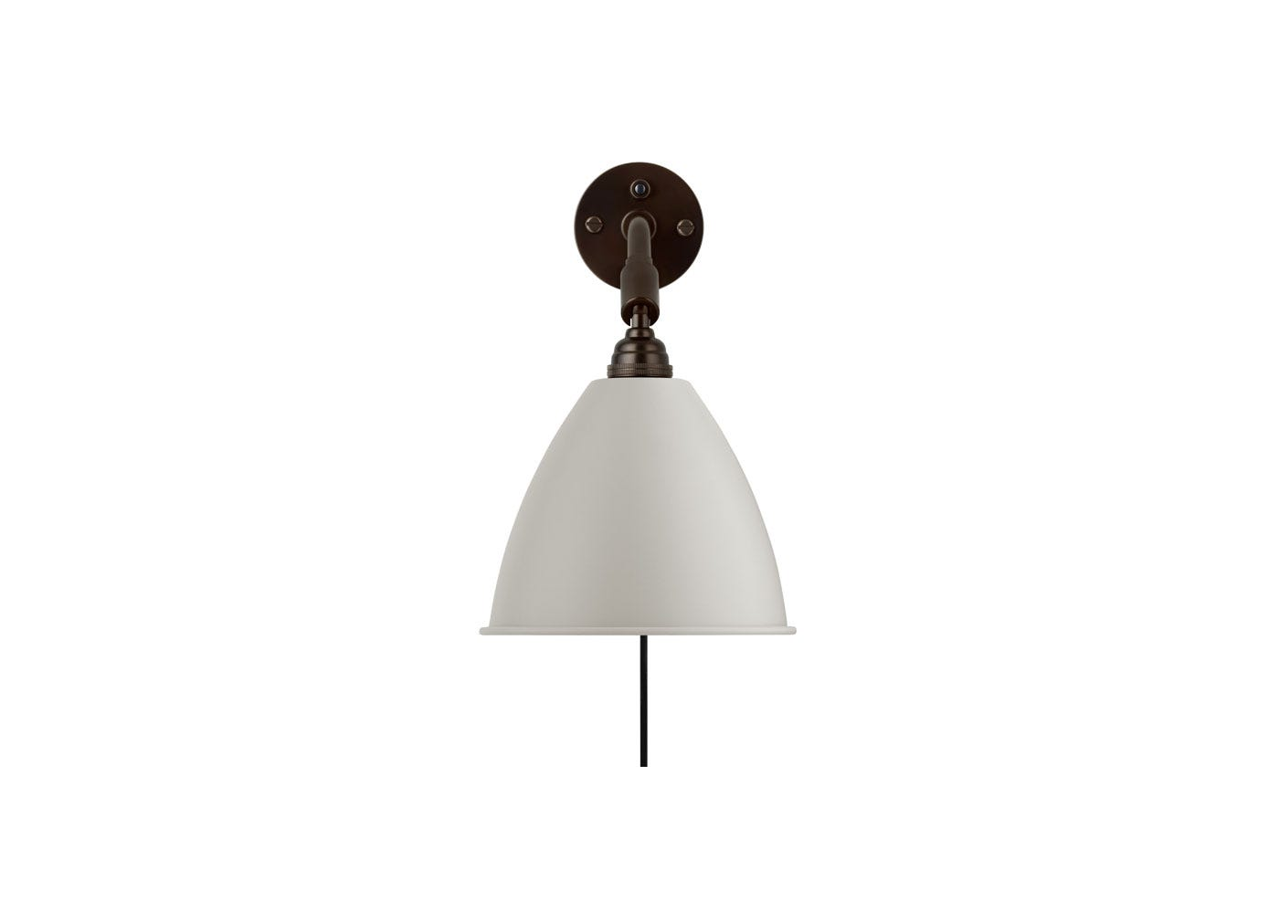 As Shown: BL7 Wall Light Black Brass Base with White Shade
