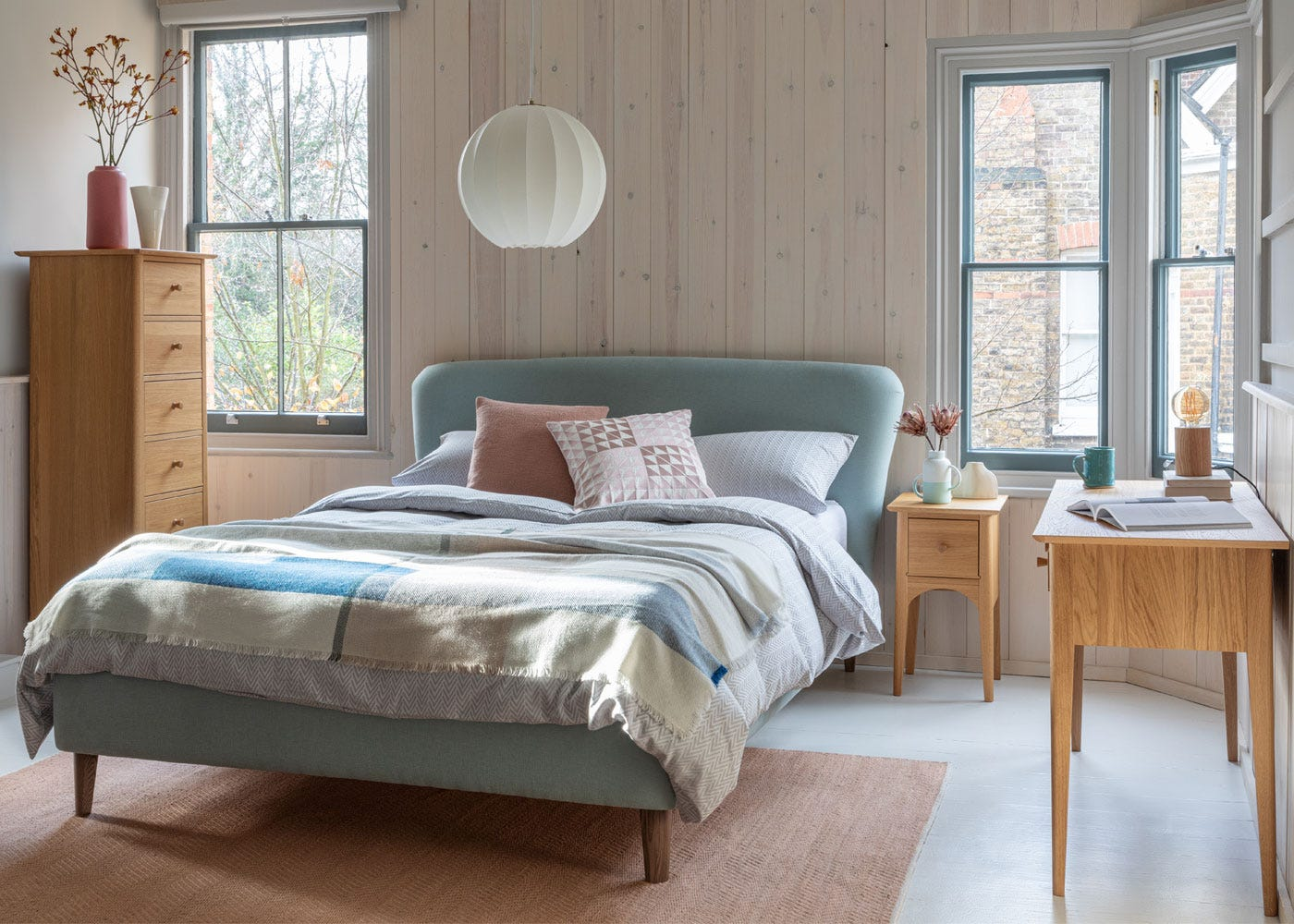 As shown: Blythe bedroom collection.