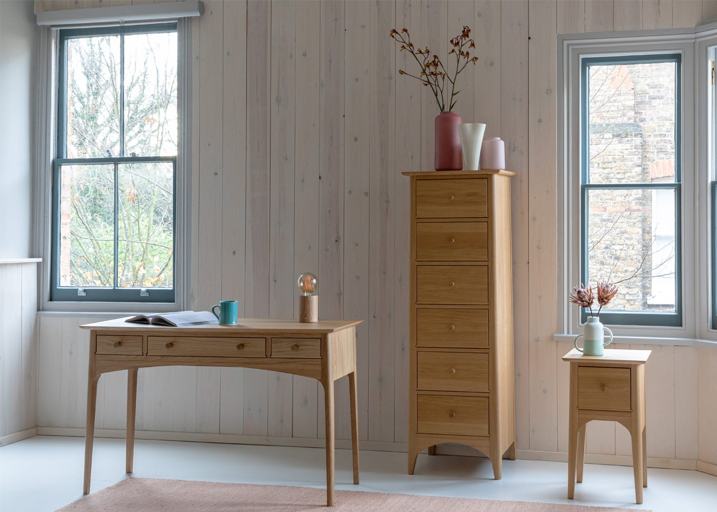 with Blythe Tall Chest and Console table