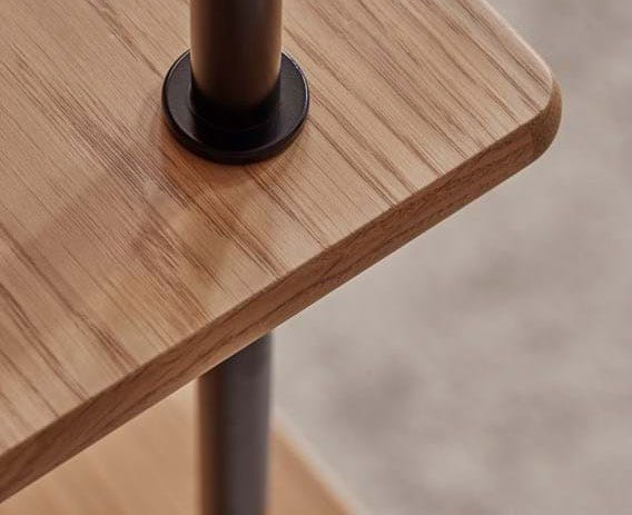 Crafted to exacting standards from tubular steel and solid walnut.
