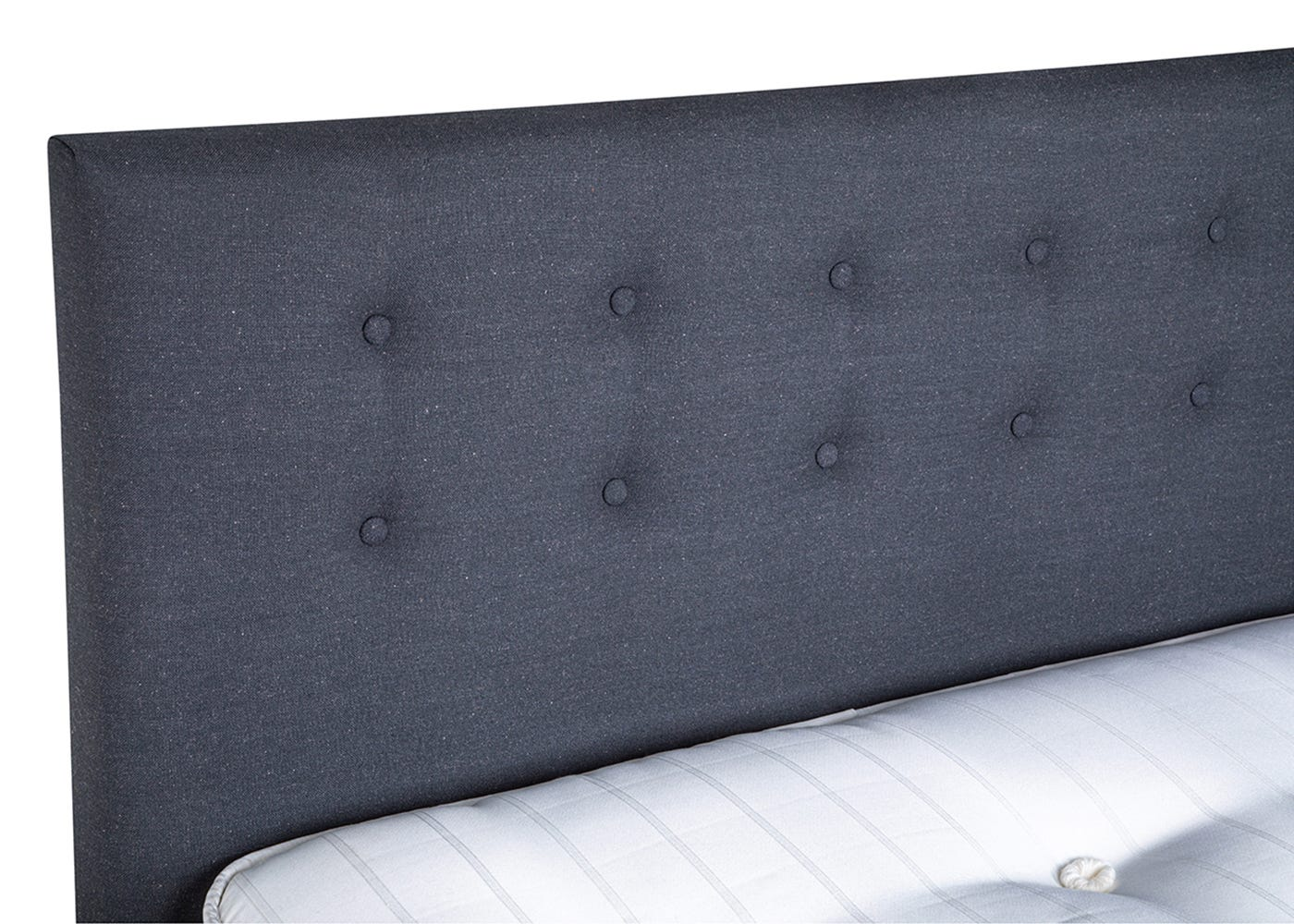 As shown: Upholstered headboard.