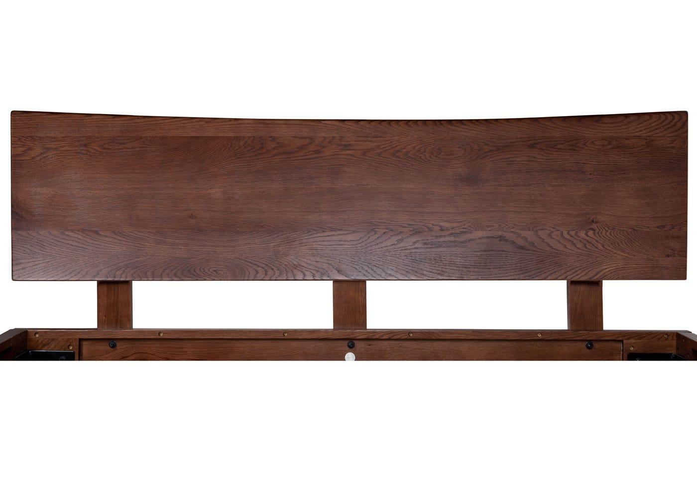 Brunel Bed with Oak Headboard King Dark Wood.