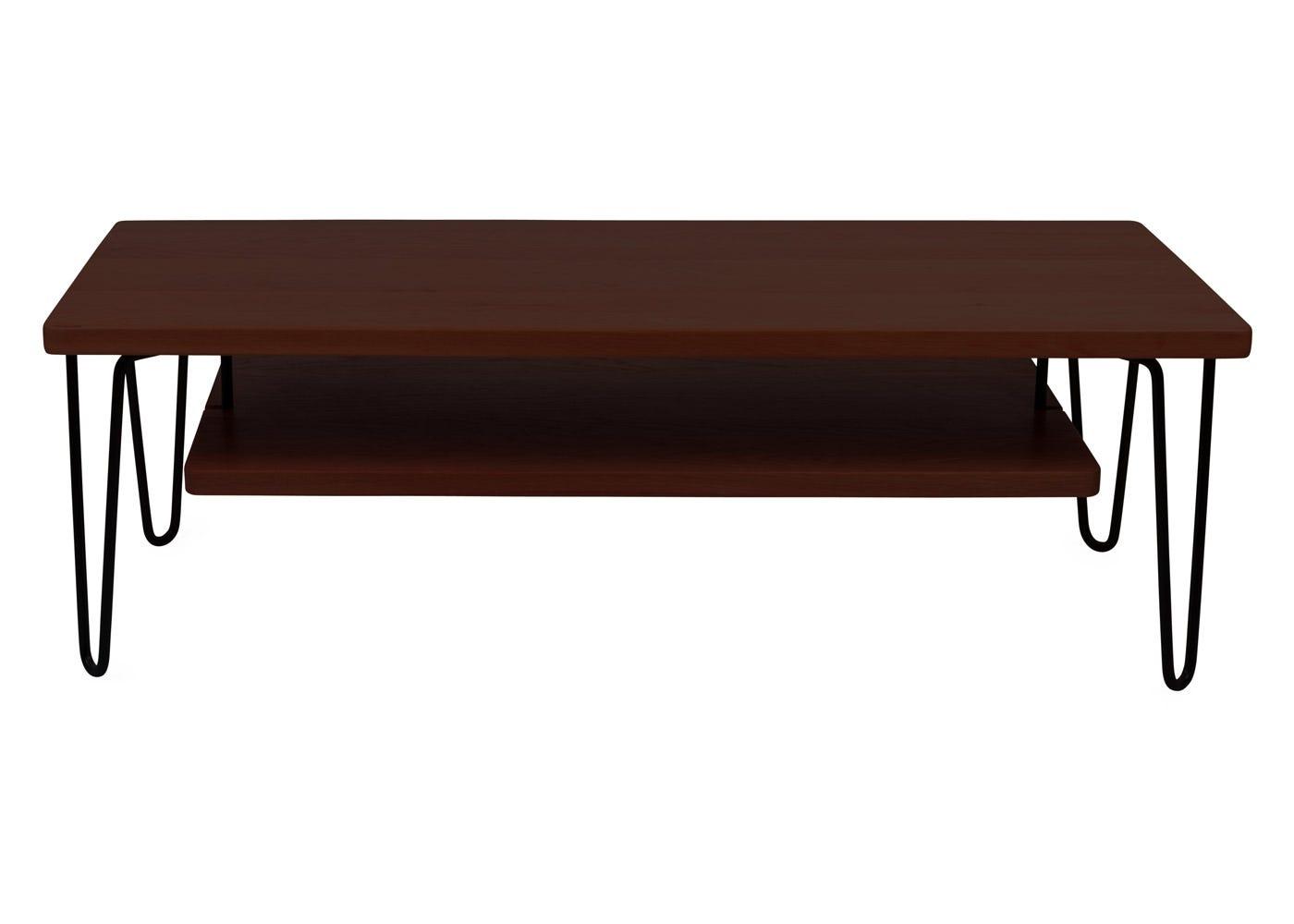 As shown: Brunel Coffee Table / AV Unit Dark Wood.