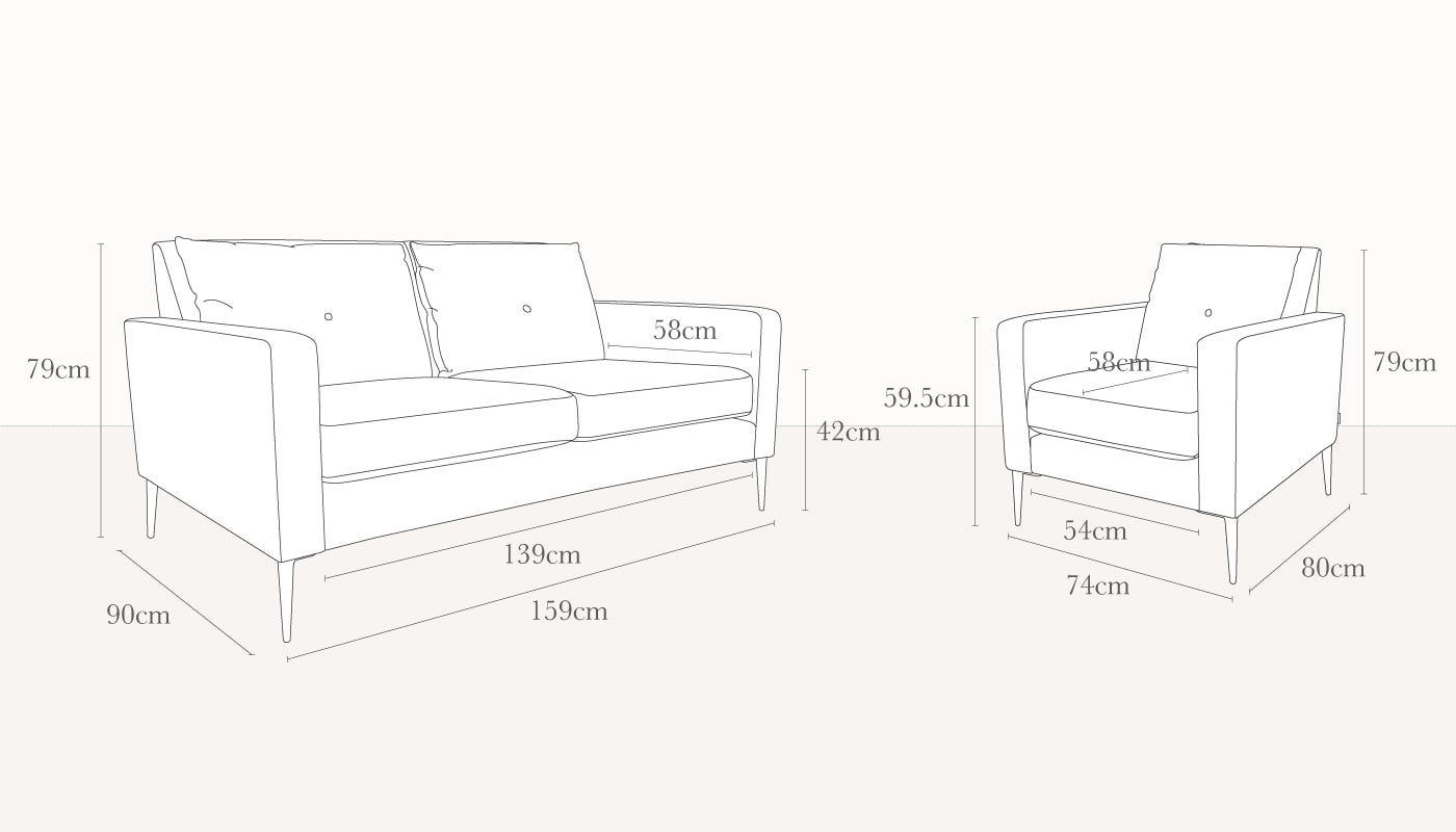 3 Seater Couch Dimensions