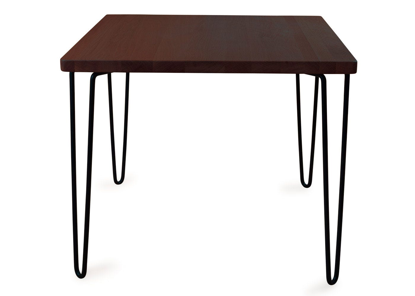 As shown: Brunel dining table square dark wood