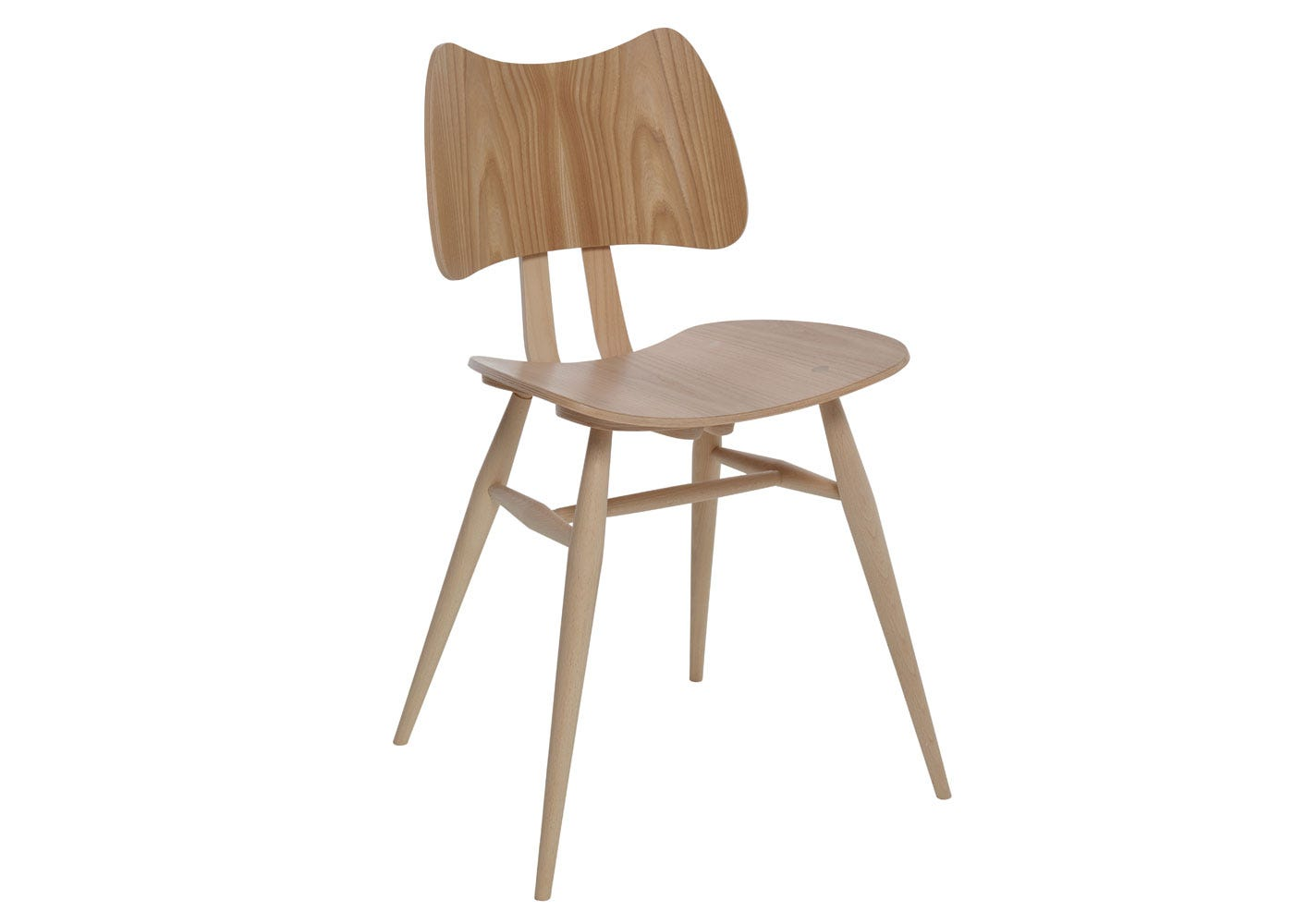 As shown: Originals Butterfly Chair Beech and Elm - Side Profile.