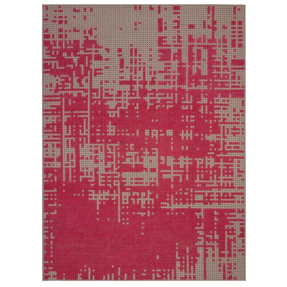 Canevas Abstract Rosa Rug