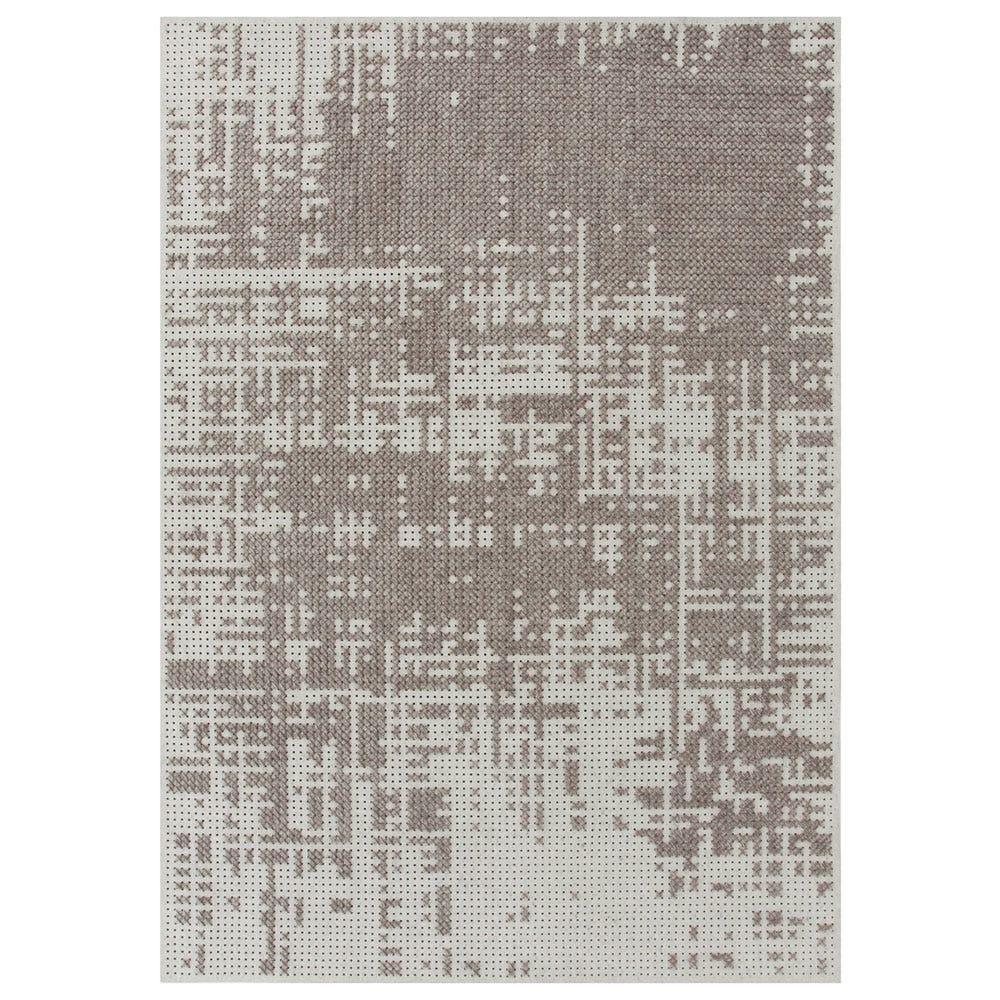 Canevas Abstract Plata Silver Rug