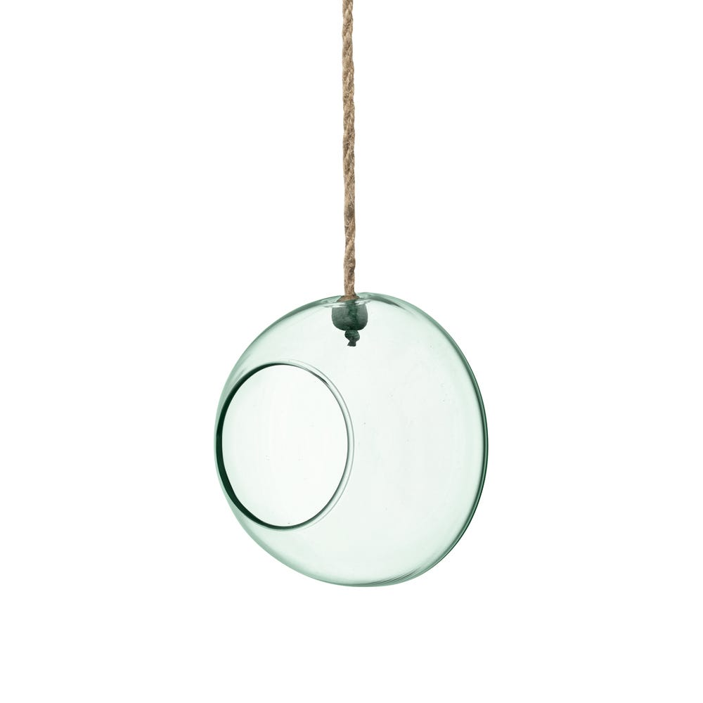 Canopy Recycled Glass Hanging Planter Small