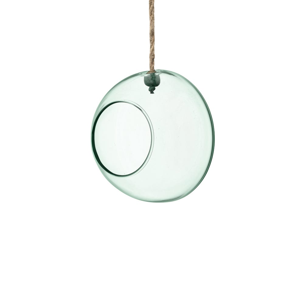 Canopy Recycled Glass Hanging Planter Medium