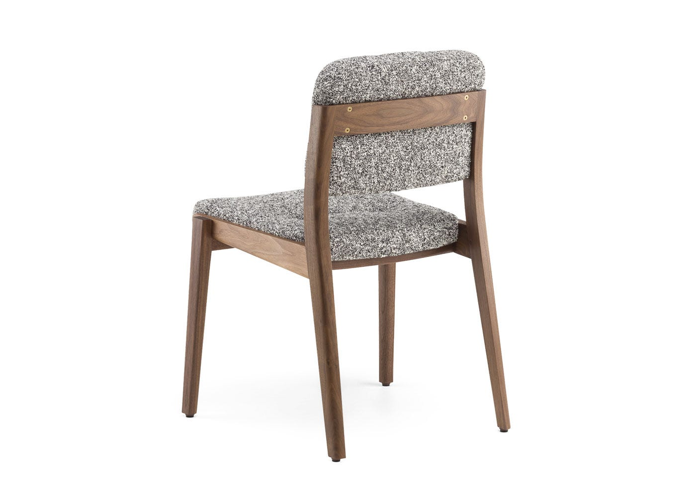 As shown: Capo dining chair danish oiled walnut frame with zero 004 seat pad - Rear profile.