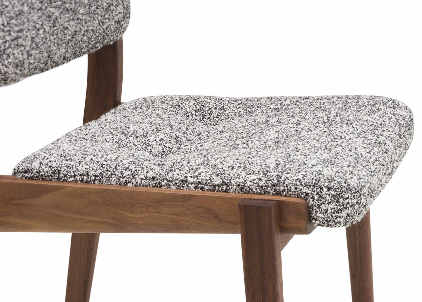 As shown: Kvadrat fabric (zero 004) seat pad.