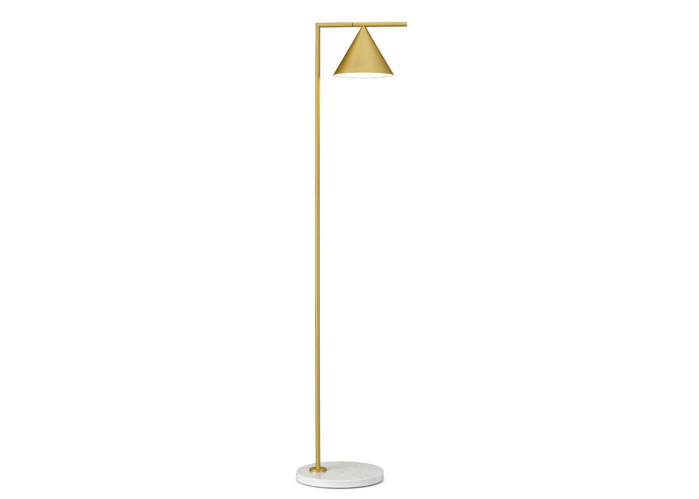 As shown: Captain Flint Floor Lamp in brass.