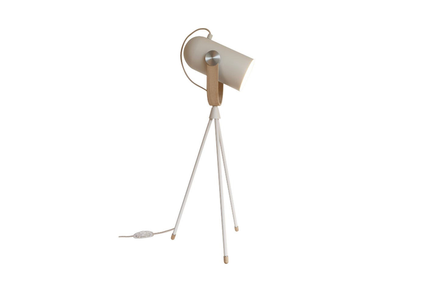 As Shown: Carronade Table Lamp in Sand