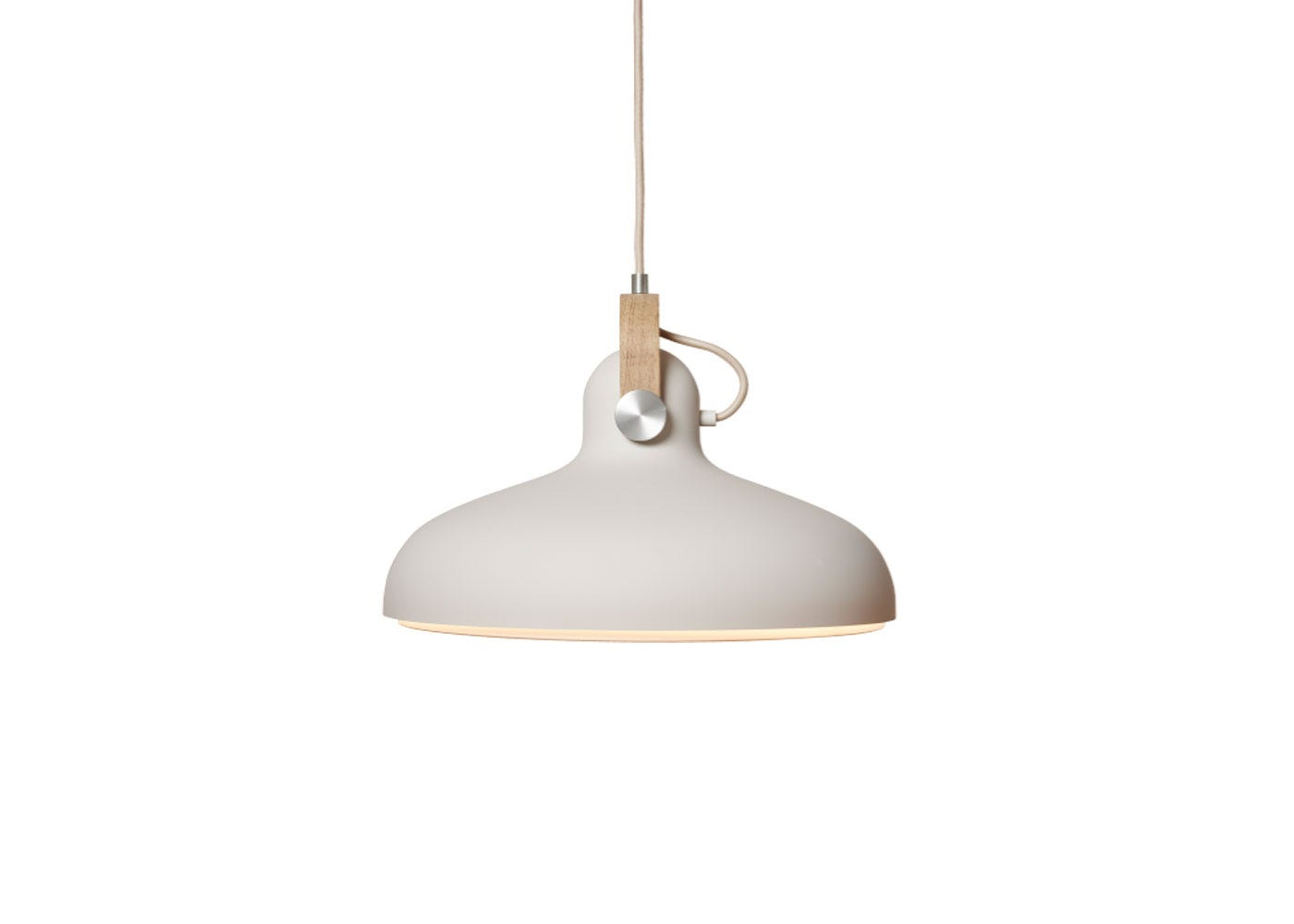 As Shown: Carronade Pendant Light Large in Sand.