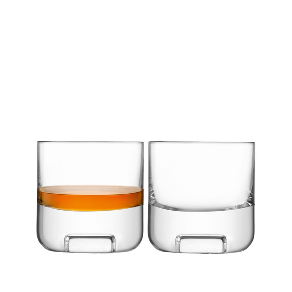 Cask Whisky Tumbler Glass Clear Set of 2